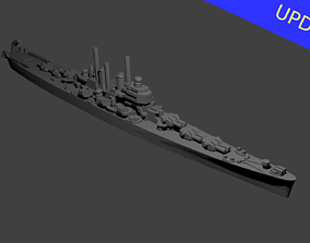 US Worcester Class Cruiser Warship 3D printable model