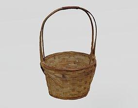 3D asset Wicker Basket Flower Pot photogrammetry scan 2