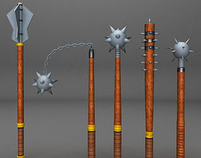 3D model Medieval weapon pack