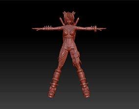 3D print model Girl warrior figurines statue