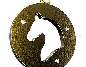 3D print model Horse Pendant design