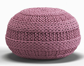 3D model Knitted pouf