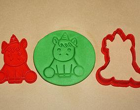 form 3D print model CUTE UNICORN - COOKIE CUTTER
