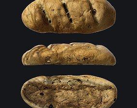 Bread D 3D asset