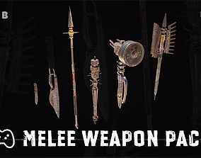 3D asset realtime Melee weapon pack