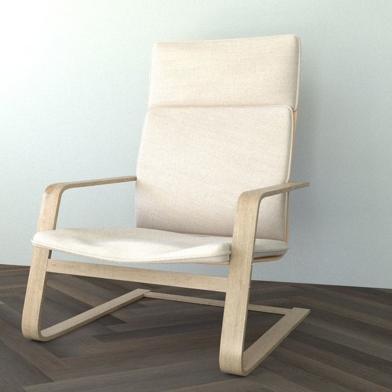 High poly chair