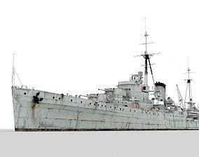 3D asset HMS Leander