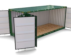 20ft Shipping Container Side Open 3D model