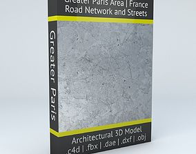3D model Greater Paris Road Network and Streets