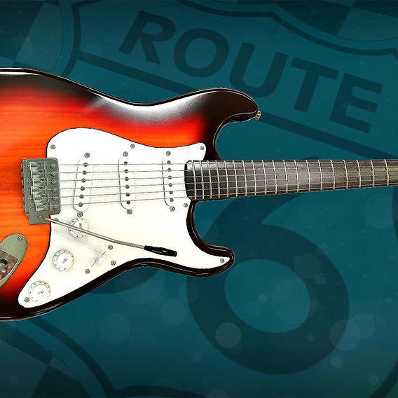 Route 66 bar - guitar