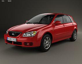 Kia Cerato Spectra hatchback 2004 3D model
