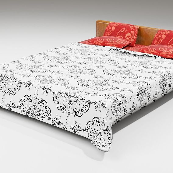 Bed and Cot 3D model