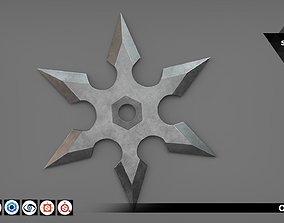 3D asset Shuriken 03 - PBR - 4K PBR