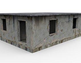 empty concrete buildings 3D model