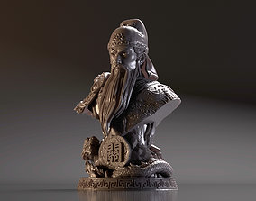 Bust of Guan Yu - Romance of the Three 3D print model