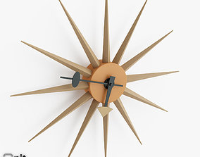 3D Sol Sunburst wall clock by Dot and Bo
