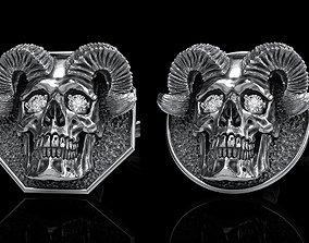 3dprint skull earrings studs 2 3D model