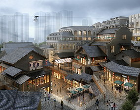 Ancient Chinese Commercial Street 014 3D model