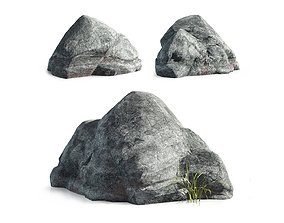 3D model game-ready Stone-L01
