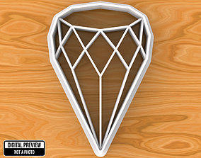 Diamond Cookie Cutter wife 3D printable model