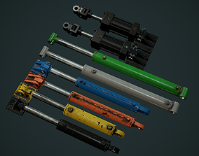 3D asset Hydraulic Cylinder Pack