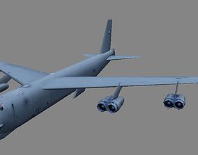 USAF B-52 bomber 3d model low-poly realtime