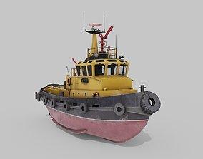 3D asset Tugboat Havendienst 4