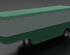 American 50s-60s style Furniture Van Trailer 3D asset