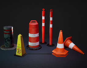 3D model Barriers Game Ready
