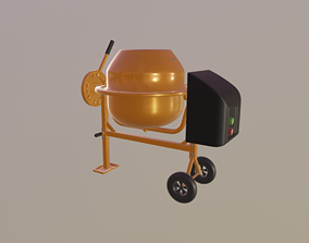 3D model Mini Concrete Mixer