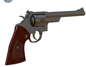 Smith Wesson Revolver 3D model