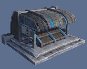 Market Stall 3D model realtime