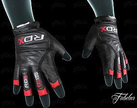 3D asset Weight lifting gloves