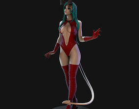 figurines Demon Lady 3D Print Model 25cm