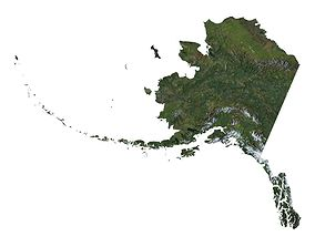 High detailed relief map of Alaska 3D model