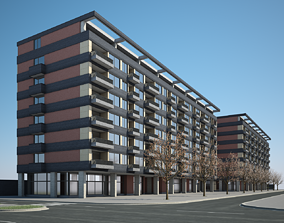 3D model Apartment Building 02