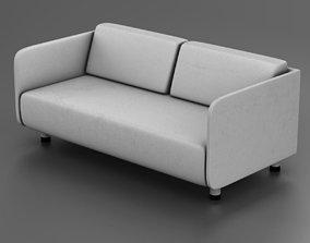 3D asset White couch