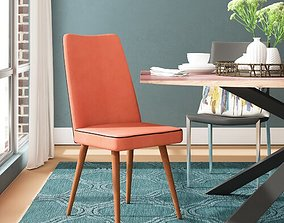 Edwin Upholstered Dining Chair 3D polyester