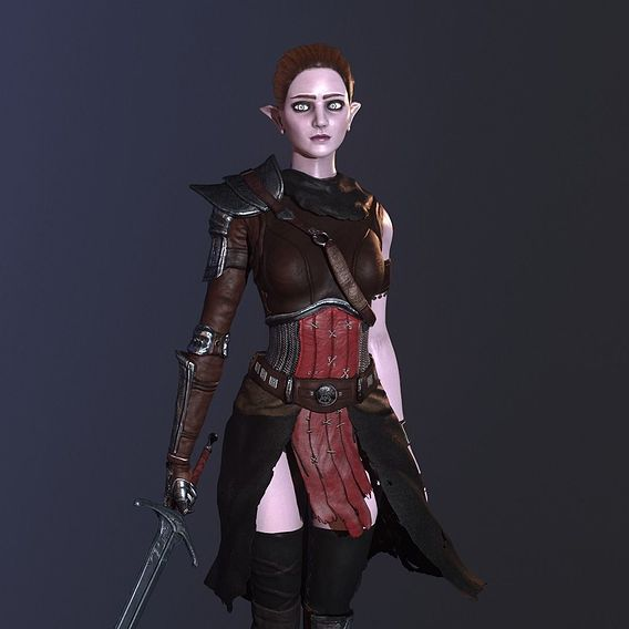 Female elf character