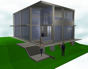 Human Scale Architecture 3D model game-ready