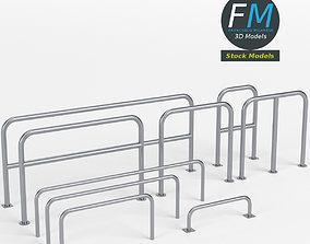 Perimeter hooped barriers 3D