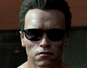 3D model Arnold Schwarzenegger head game-ready