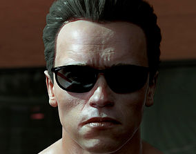 3D model Arnold Schwarzenegger head game-ready