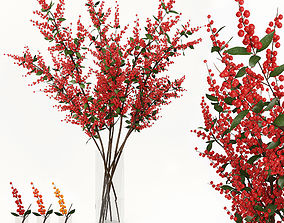 3D model Branches in a vase 004