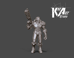 3D printable model Space ranger - 35mm scale human