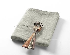 3D forks Tied Forks on Towel