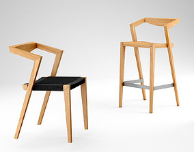 3D model Feelgood designs Urban Loom chair and Urban stool