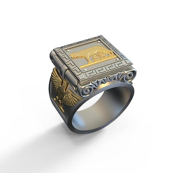 Roman Empire style mens Ring