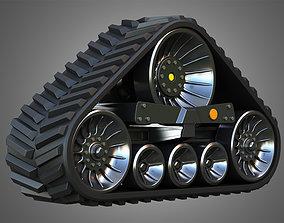 3D Rubber Track System 4- Combine Harvester - Crawler
