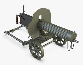 Gun Maxim 1910 3D